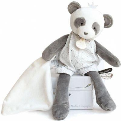Coffret peluche avec Coffret doudou Panda Attrape-rêves (28 cm)  par Doudou et Compagnie