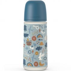 Biberon avec tétine symétrique SX PRO L Into the forest bleu (360 ml)