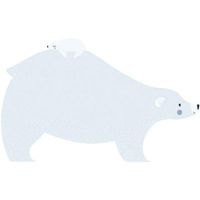 Grands stickers Artic dream ours polaire et son bébé (49 x 79 cm)