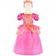 Robe de princesse tropicale rose (3-5 ans)