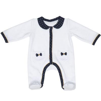 Pyjama chaud noeud Hello (1 mois)  par Sauthon