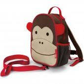 Sac à dos bébé Zoo singe marron avec dragonne - Skip Hop