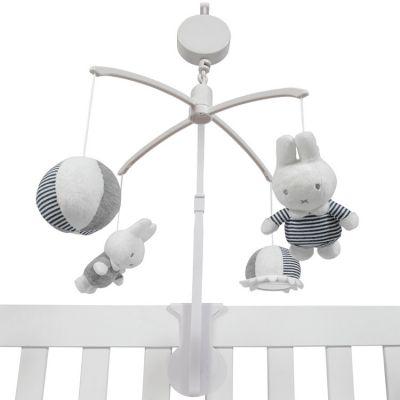 Mobile musical lapin Miffy marinière  par Pioupiou et Merveilles