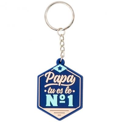 Porte-clés Papa, tu es le n°1 Mr. Wonderful
