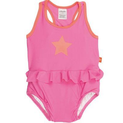 Maillot de bain 1 pièce Splash & Fun étoile rose et orange (24 mois)