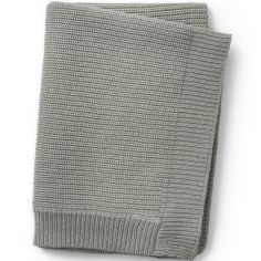 Couverture en coton et laine verte Mineral Green (100 x 70 cm)