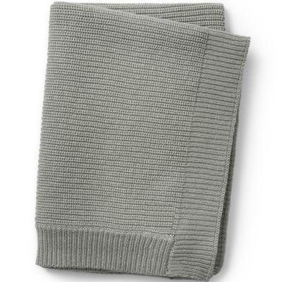 Couverture en coton et laine verte Mineral Green (100 x 70 cm)  par Elodie Details