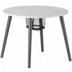 Table d'enfant en bois laqué gris