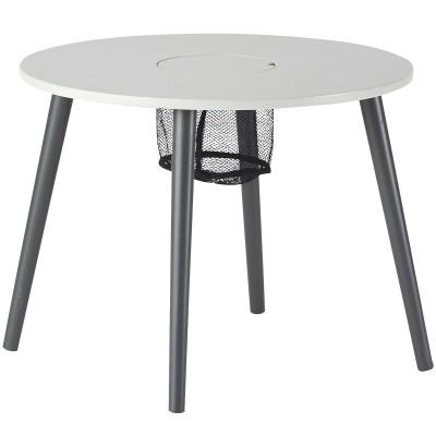 table d 39 enfant en bois laqu gris done by deer. Black Bedroom Furniture Sets. Home Design Ideas