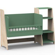 Berceau cododo évolutif avec colonne étagère Asymetry Montessori (8 coloris au choix)