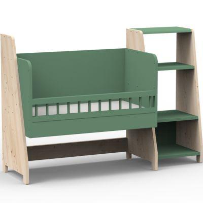 Berceau cododo évolutif avec colonne étagère Asymetry Montessori (8 coloris au choix)  par Mathy by bols