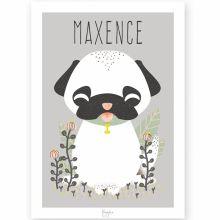 Affiche A3 Les Animignons le chien (personnalisable)  par Kanzilue