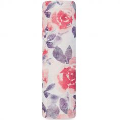 Maxi lange Silky Soft rose Watercolor Garden (120 x 120 cm)