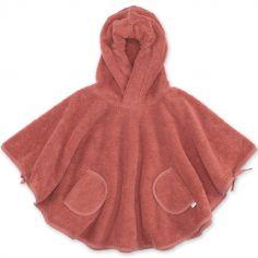 Poncho de bain Terry rouge (9-36 mois)