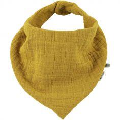 Bavoir bandana Bliss jaune moutarde