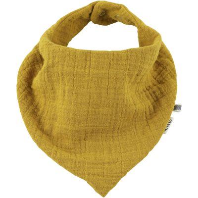 Bavoir bandana Bliss jaune moutarde  par Les Rêves d'Anaïs