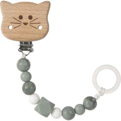 Attache sucette en bois Little Chums chat  par Lässig