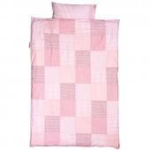 Housse de couette et taie d'oreiller Patchwork rose (140 x 200 cm) - Taftan