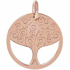 Médaille de naissance Romane personnalisable 18 mm (or rose 750°)