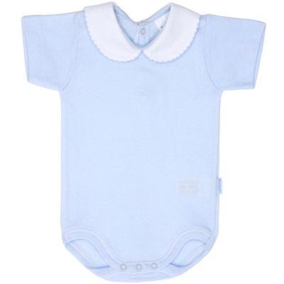 Body col manches courtes bleu (1 mois : 56 cm)  par Cambrass