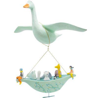 Mobile L'oie avec grande Arche de Noé  par L'oiseau bateau