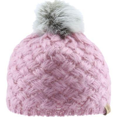 Bonnet en tricot à pompon rose (12-18 mois)