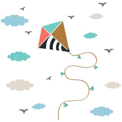 Stickers muraux Cerf volant Art for Kids