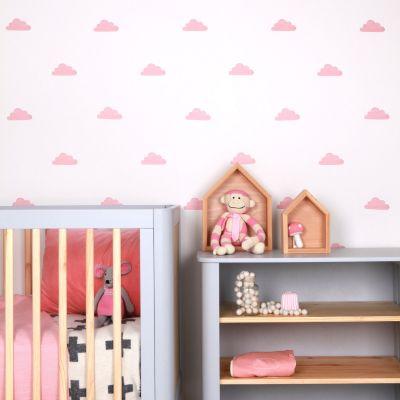 Sticker Nuages rose (modèle intermédiaire)  par Love Maé