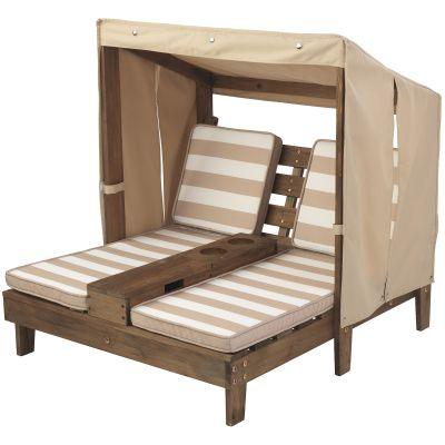 Double chaise longue beige  par KidKraft
