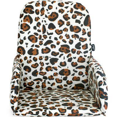 Coussin chaise haute Léopard naturel