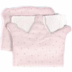 Lot de 2  bavoirs protection d'épaule Petite Etoile couronne vichy rose