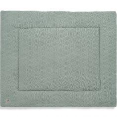 Tapis de jeu réversible en tricot vert cendre (80 x 100 cm)