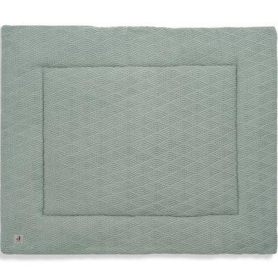 Tapis de jeu réversible en tricot vert cendre (80 x 100 cm)  par Jollein