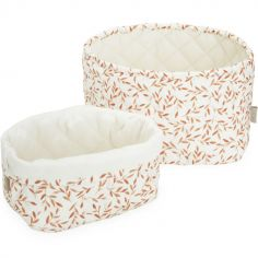 Lot de 2 paniers de toilette Caramel Leaves