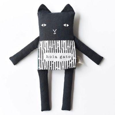 Peluche chat livre bébé Hola gato  par Wee Gallery
