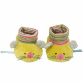Chaussons souris verts Les Pachats (0-6 mois) - Moulin Roty