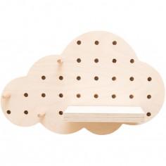 Panneau perforé pegboard nuage (30 x 19 cm)