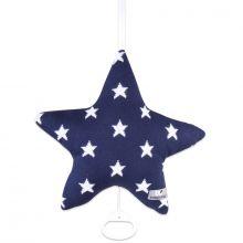 Coussin musical étoile Star bleu marine et blanc (30 cm)  par Baby's Only