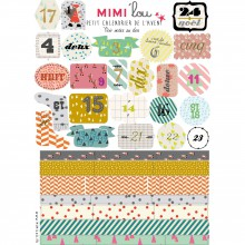 Autocollants Petit Calendrier de l'Avent (21 x 15 cm)  par Mimi'lou