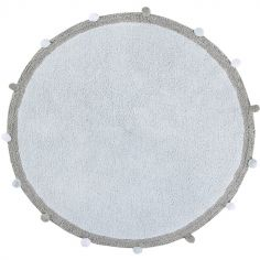 Tapis lavable Bubbly Soft bleu (120 cm)