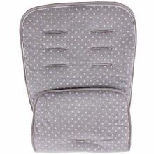 Assise de protection réversible poussette et siège auto gris étoiles  par Minene
