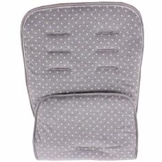Assise de protection réversible poussette et siège auto gris étoiles