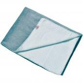 Couverture bébé en coton Scandinavian Flannel Steel noeud bleu gris (75 x 100 cm) - Lodger