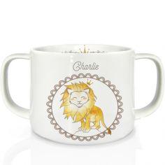 Tasse en porcelaine Lion (personnalisable)