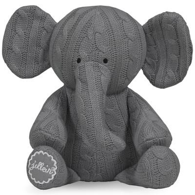 Peluche éléphant Cable gris (36 cm) Jollein