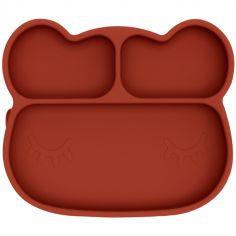 Assiette à compartiments ours rust