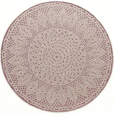 Tapis rond Crochet rose (135 cm) Art for Kids