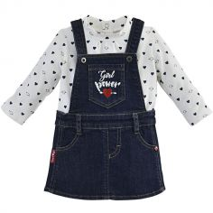 Ensemble robe 2 pièces Girl Power jean (9 mois)