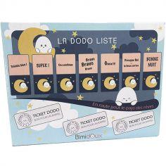 Tableau magnétique rituel du coucher Dodo Liste Bimidoux