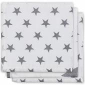 Lot de 3 essuie-mains hydrophile Little star étoile gris anthracite - Jollein